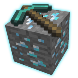 Minecraft kilof niebieski
